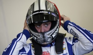 Jimmie Johnson is hoping to launch the 2014 season and his quest for a seventh NASCAR Sprint Cup Series title with another Daytona 500 victory. (HHP/Harold Hinson Photo