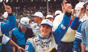 Jacques Villeneuve, seen here after winning the 1995 Indianapolis 500, is set to return to Indianapolis Motor Speedway this year with Schmidt Peterson Motorsports (IMS Photo)