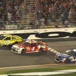 Matt Kenseth beats Kevin Harvick and Kasey Kahne to the checkered flag to win Budweiser Duel race No. 1 at Daytona Int'l Speedway in Daytona Beach, Fla. (Photo: Dick Ayers)