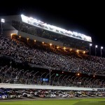 Ben Kennedy, driver of the #31 Florida Lottery/Whelen Chevrolet, leads a pack of trucks during the Camping World Truck Series NextEra Energy Resources 250 at Daytona Int'l Speedway in Daytona Beach, Fla.  (Photo by Jerry Markland/Getty Images)