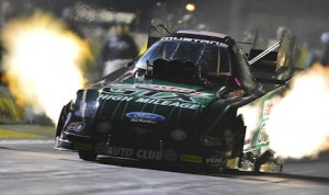 John Force set a national record elapsed time Friday night at Auto Club Raceway at Pomona, Calif. (Ron Lewis Photography photo)