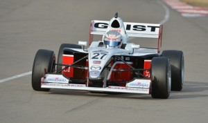 Garett Grist drove to a dominating victory in Saturday's Pro Mazda event during Winterfest at NOLA Motorsports Park.
