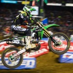 Justin Hill claimed the Monster Energy West Region 250SX victory Saturday night at San Diego's Qualcomm Stadium. (Hoppenworld photo)