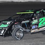 Stormy Scott on his way to victory on Sunday during the United States Modified Touring Series feature at South Texas Speedway. (RonSkinnerPhotos.com Photo)