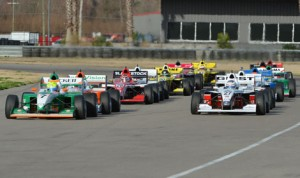 Spencer Pigot drove to victory during round one of the Pro Mazda portion of Winterfest at NOLA Motorsports Park.