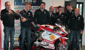 The Althea Racing World Superbike team at Civita Castellana in Italy.