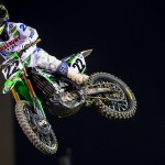 Chad Reed soars to his second victory of the season at Angel Stadium in Anaheim. (Kawasaki photo)