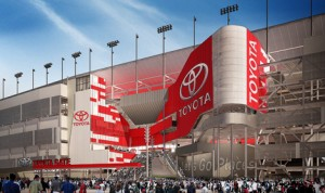 "Toyota has signed an agreement with Daytona Int'l Speedway granting the company naming rights at one of five ""fan injector"" points around the race track. (DIS Graphic)"