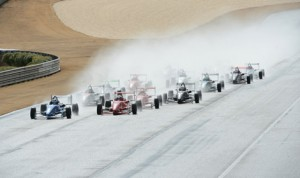 Drivers take the green flag during the first of two USF2000 events Tuesday at Barber Motorsports Park.