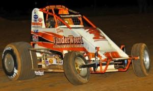 Richard Vander Weerd won Saturday night's Winter Challenge sprint car finale at Canyon Speedway Park in Arizona. (Patrick Shaw photo)
