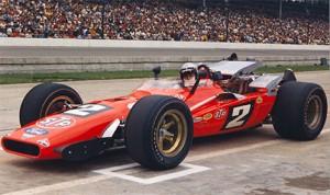 Mario Andretti in his 1969 race winning No. 2 STP Oil Treatment Hawk III/Ford. (Photo: IMS)