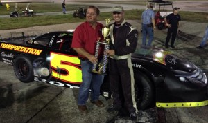 Joe Boyd won the Icebreaker 100 at Desoto Speedway in Florida on Saturday.