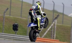 Valentino Rossi during testing Friday at Sepang Int'l Circuit. (Yamaha photo)