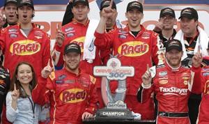 Regan Smith wins the DRIVE4COPD 300 at Daytona Int'l Speedway. (HHP/Harold Hinson)