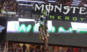 Martin Davalos captured the first Eastern Regional 250SX Class win of his career Saturday at the Georgia Dome. (Simon Cudby photo)