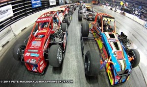 On Friday night, Trenton, N.J.  saw its first racing action since 1980. (Photo: Pete MacDonald, raceproweekly.com)