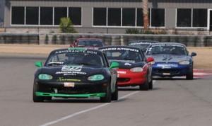 Craig Berry leads the Spec Miata field. (Mark Weber/SCCA Photo)