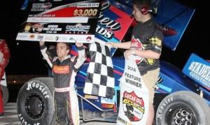 Rico Abreu won Friday night's Lucas Oil ASCS Sprint Car Series opener at Cocopah Speedway. (Bryan Hurlbert/ASCS photo)