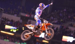 Ryan Dungey claimed his first Monster Energy Supercross victory of the season Saturday night at Lucas Oil Stadium in Indianapolis. (Simon Cudby photo)