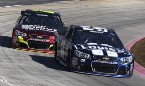 Jimmie Johnson (48) and Jeff Gordon have eight victories each at Martinsville (Va.) Speedway for Hendrick Motorsports. (HHP/Christa L. Thomas Photo)