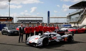 The new Audi R18 e-tron quattro debuted today in France.