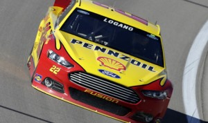 Joey Logano will start from the pole for Sunday's Kobalt 400 at Las Vegas Motor Speedway. (HHP/Harold Hinson Photo)