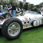 This 1960 Kurtis-Epperly on display at the 2014 Amelia Island Concours was driven by Driver- AJ Foyt and tended to by Mechanic George Bignotti. (Photo: Ralph Sheneen)