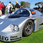 The 1989 Sauber Mercedes C9 on display at the 2014 Amelia Island Concours. (Photo: Ralph Sheheen)