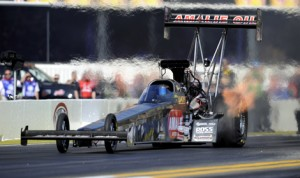 Terry McMillen is hoping to do his sponsor Amalie Motor Oil proud during the upcoming  Amalie Motor Oil NHRA Gatornationals in Gainesville, Fla. (NHRA Photo)