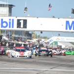 The TUDOR United SportsCar Championship field takes the green flag to start the Mobil 1 Twelve Hours of Sebring on Saturday. (Al Steinberg Photo)