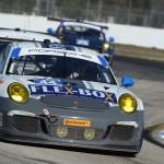Magnus Racing's Porsche 911 GT America captured the GT Daytona class victory during the Twelve Hours of Sebring. (Al Steinberg Photo)