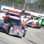 The DeltaWing leads a pack of cars during Saturday's Mobil 1 Twelve Hours of Sebring. (Al Steinberg Photo)