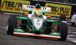 Spencer Pigot drove to victory in the opening round of the Pro Mazda Championship Saturday in St. Petersburg, Fla. (Al Steinberg Photo)