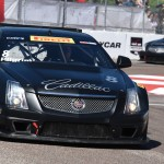 Andy Pilgrim in his Cadillac during Sunday's Pirelli World Challenge event in St. Petersburg, Fla. (Al Steinberg Photo)