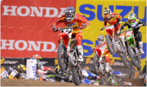 Justin Bogle earned his first Eastern Region 250SX victory Saturday. (Simon Cudby photo)
