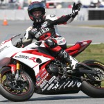 Danny Eslick, seen here in 2014 after winning the Daytona 200, has been suspended by the AMA and ASRA after being arrested on Monday night. (AMA Pro Photo)