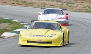 Doug Peterson kept Simon Gregg just behind for the entire GT-1 race Sunday at Road Atlanta. (Mark Weber photo)