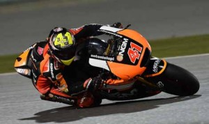 Aleix Espargaro was fastest in the first practice session for Sunday's MotoGP opener in Qatar. (MotoGP Photo)