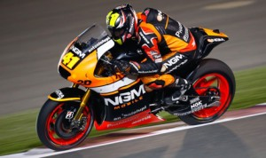 Aleix Espargaro remained fastest in MotoGP practice Friday in Qatar. (MotoGP Photo)