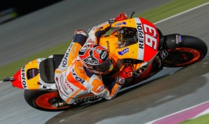 Marc Marquez will start from the pole for Sunday's MotoGP opener in Qatar. (MotoGP Photo)