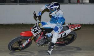 Briar Bauman won the season opener for the AMA Pro Flat Track tour Thursday in Daytona Beach, Fla.