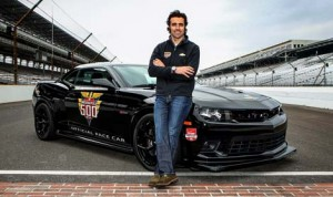 Dario Franchitti will drive a 2014 Chevrolet Camaro Z/28 to pace the 98th running of the Indianapolis 500 on May 25. (IndyCar Photo)