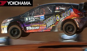 Global Rallycross tracks are a combination of dirt and asphalt with multiple obstacles and big jumps.
