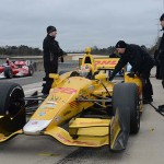 Ryan Hunter-Reay sits on pitlane during the 2014 Open Test at Barber Motorsports Park in Leeds, Ala. (Photo: IndyCar)
