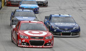 Kyle Larson ran up front and came home with a solid 10th place at the Food City 500 at Bristol Motor Speedway. (HHP/Christa L Thomas)
