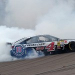 Kevin Harvick celebrates after winning Sunday's NASCAR Sprint Cup Series race at Phoenix Int'l Raceway. (NASCAR Photo)