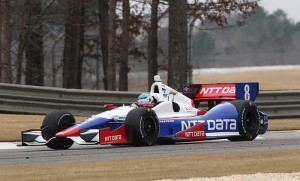 Ryan Briscoe, pictured during preseason testing at Barber Motorsports Park, was second fastest in the first day of testing for the Verizon IndyCar Series' first road-course race at Indianapolis Motor Speedway. (Photo: IndyCar)