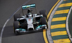 Nico Rosberg on his way to victory in the Australian Grand Prix Sunday. (Steve Etherington Photo)