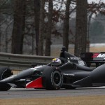 Oriol Servia drives his No. 16 Honda during the 2014 Open Test at Barber Motorsports Park. (Photo: IndyCar)