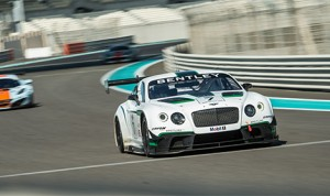 The Bentley Continental GT3 at the Yas Marina Circuit in Abu Dhabi. (Bentley Photo)